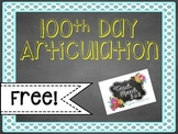 100th Day Articulation