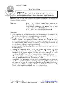 1102-21 Environmental Problems and Conservation