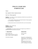 12 Angry Men Evidence Log Plan