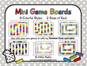 12 Mini Game Boards {Colorful}