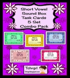 120 Elkonin Sound Box Task Cards-5 SHORT VOWEL SETS Word W