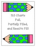 120 Numbers Charts to Fill