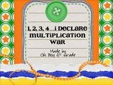 1,2,3,4 I Declare Multiplication War... a multiplication game