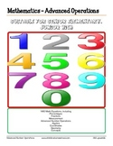 1480 Equations, Advanced Math Operations Worksheets Grade 6
