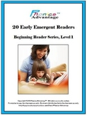 20 Early Emergent Readers-Printable & iPad Format w/Phonic