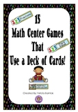 15 Math Center Games - Using a Deck of Cards