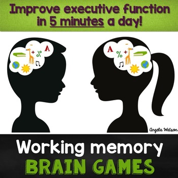 15 Working Memory Brain Games: Improve executive function in 5 minutes a day!