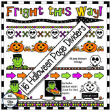 16 Halloween Page Dividers - Fright this Way!
