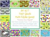 17 First Grade Math Folder Games - Fun Centers - Common Co