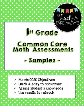 FREE 1st Grade: Sample Math As...