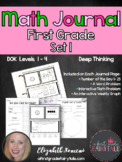 Math Journal for Firsties Volume 1
