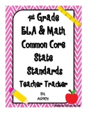 1st Grade Common Core State Standards Teacher Tracker