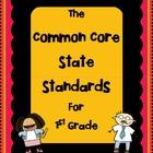 1st Grade - Common Core State Standards