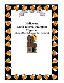 1st Grade Halloween Math Journal Prompts
