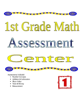 1st Grade Math Assessment Center
