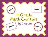 1st Grade Math Centers-Memory & True False