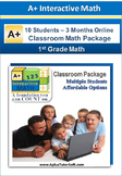 1st Grade Math - Classroom Package (10 Students, 3-Months)