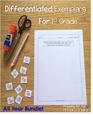1st Grade Math Exemplars Bundle (All Four Sets) - Differen
