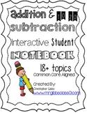 1st Grade Math Interactive Student Notebook / Math Journal