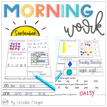 1st Grade Math and Literacy Common Core Morning Work  2nd