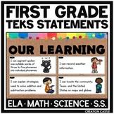 First Grade TEKS Bundle - I Can... Standards Statements