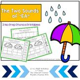 "2 Sounds of ""ea"" Phonics Center: 2nd Grade Common Core"