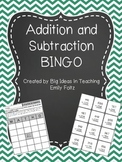 2 and 3 Digit Addition and Subtraction BINGO - 9 Different
