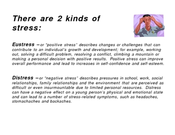 2 kinds of stress - Eustress and Distress Lesson Plan