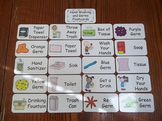 20 Laminated No More Germs Flash Cards.  Preschool Picture