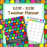 2014-2015 Polka Dot Teacher Planner (Teacher Binder)