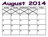 2014-2015 School Year Calendars