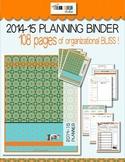2014-2015 Teacher Organization Binder BOHO style ... Outst
