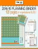 2014-2015 Teacher Organization Binder BOHO style ... Outst
