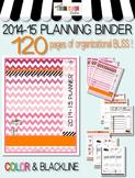 2014-2015 Teacher Organization Binder Pink Ombre style ...