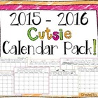 "2015-2016 FREE ""Cutsie"" Calendar Pack"