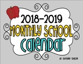 2015-2016 Monthly School Calendar