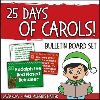 25 Clues - 25 Carols:  Name that Carol!  Bulletin Board Ki