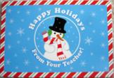 26 TEACHER CHRISTMAS CARDS SNOWMAN HAPPY HOLIDAYS POSTCARD