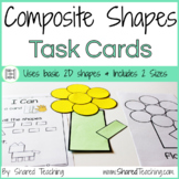 2D Composite Shapes Task Cards - Let's Play with Shapes