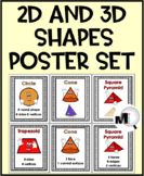 2D Shapes and 3D Shapes Poster Set