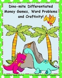 2.MD.8 Dino-mite Differentiated Common Core Money Games an