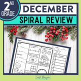 2nd GRADE Homework Morning Work for MATH - DECEMBER NO PREP