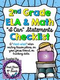 "2nd Grade Common Core ""I Can"" Checklist (Ink Saver)"