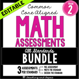 2nd Grade Common Core Math Assessment - ALL STANDARDS (3 t