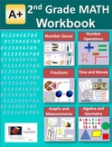 2nd Grade MATH Workbook (Worksheet, Exams and Answer Keys)