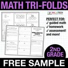2nd Grade Math Tri-Folds - 2.OA.1 FREEBIE