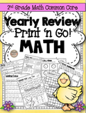 2nd Grade Math Yearly Review Print N' Go