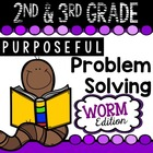 2nd & 3rd Grade Problem Solving: Worm Edition A FREEBIE Sa