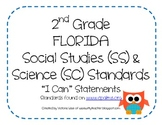"""2nd Grade Science and Social Studies """"I Can"""" Statements fo"""