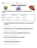 2nd Grade social Studies Holidays and Celebrations